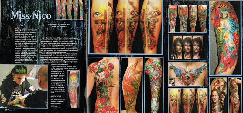 Rebel Ink Presse press miss Nico All Style Tattoo berlin