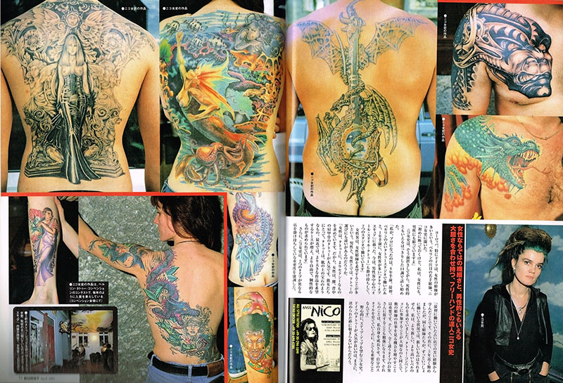 Burst Japan Presse press miss Nico AllStyle Tattoo berlin