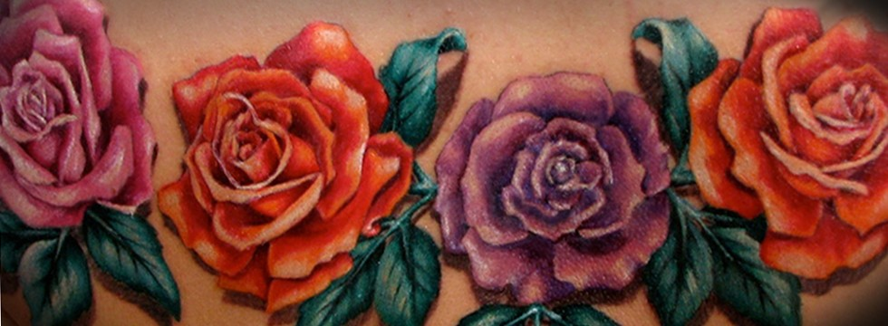 Home Slideshow tattoo miss nico rose flower blume realistic