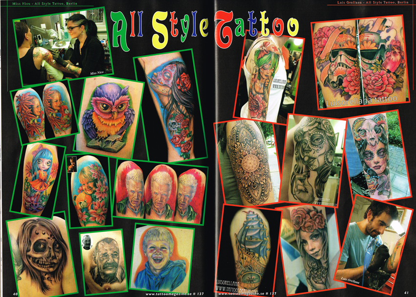 Scandinavian Tattoo Magazine All Style Tattoo miss Nico