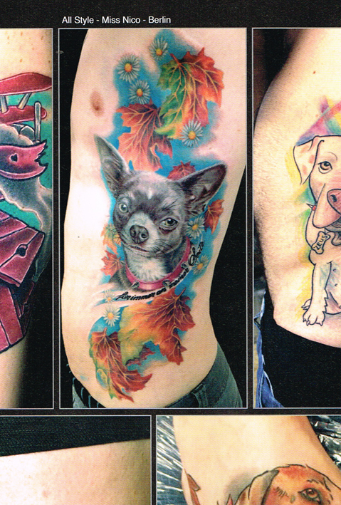 Tattoo Scout 9-14 miss Nico All Style Tattoo chiuaua portrait dog hund