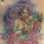 miss nico allstyletattooberlin tattoo inked pinup lillies backpiece