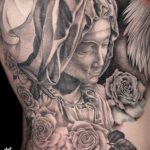 miss nico allstyletattooberlin tattoo inked pieta blackandgrey