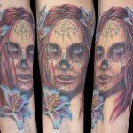 miss nico allstyletattooberlin tattoo inked la catrina lacatrina muertostattoo portrait face