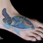 miss nico allstyletattooberlin tattoo inked schildkroete turtle headphones