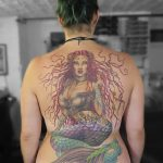 miss nico allstyletattooberlin tattoo inked marmeid meerjungfrau nixe backtattoo colortattoo