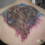 miss nico allstyletattooberlin tattoo inked watercolor aquarell tiger lion leopard jaguar