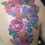 miss nico allstyletattooberlin tattoo inked flowers colortattoo flowercomposition