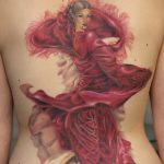 miss nico allstyletattooberlin tattoo inked flamenco backtattoo dancer