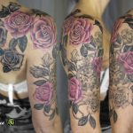 miss nico allstyletattooberlin tattoo inked roses clock blackandgrey