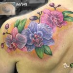 miss nico allstyletattooberlin tattoo inked orchideen orchids coverup colortattoo
