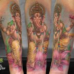 miss nico allstyletattooberlin tattoo inked ganesha indiantattoo indien colortattoo armtattoo elephant