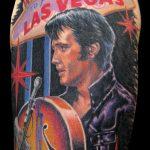 miss nico allstyletattooberlin tattoo inked elvis portrait colorportrait lasvegas musician elvispresley