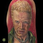 miss nico allstyletattooberlin tattoo inked billyidol portrait colorportrait musician