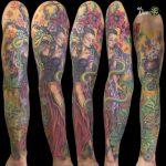 miss nico allstyletattooberlin tattoo inked goettin goddess fullsleeve colortattoo herbals