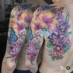 miss nico allstyletattooberlin tattoo inked scartattoo watercolor pixel grafic flowers butterfly