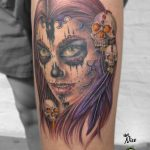 miss nico allstyletattooberlin tattoo inked lacatrina muertostattoo portrait face realistictattoo