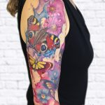 miss Nico butterflies flowers watercolor All Style Tattoo Berlin allstyletattoo colortattoo armtattoo colourtattoo farbtattoo tätowierung
